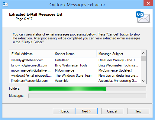 Messages Extractor for Outlook